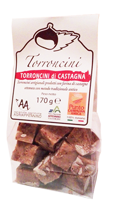 Immagine di Torroncini alla castagna 170 g